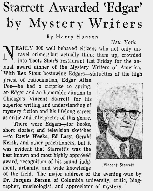 A clip from the Chicago Daily Tribune for April 27, 1958.