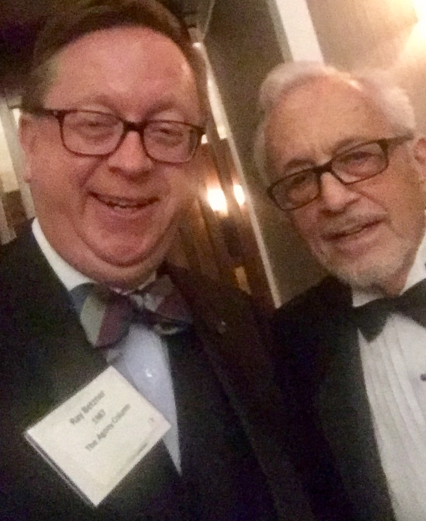 Roy Pilot and myself at the Baker Street Irregulars dinner in January 2017.