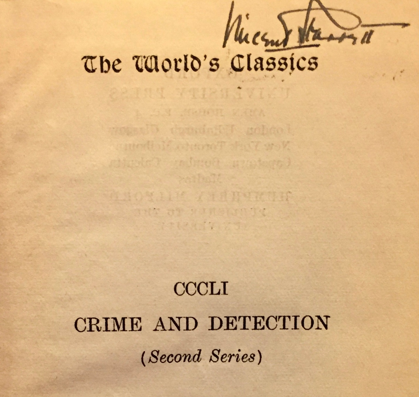 """Starrett's signed the book as well as """"Ellery Queen"""" and """"Barnaby Ross."""""""