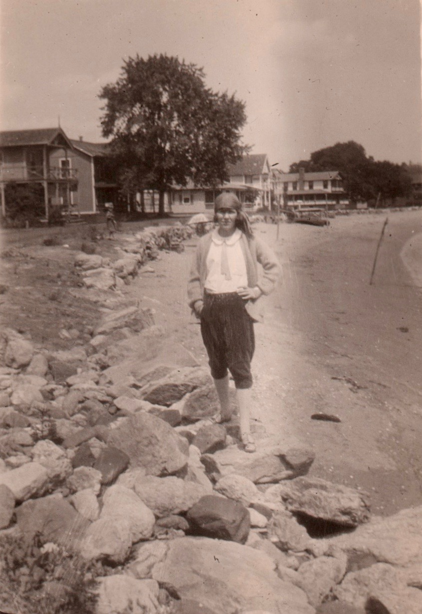 Another undated photo of Ray, looking vaguely pirate-like at the shore.
