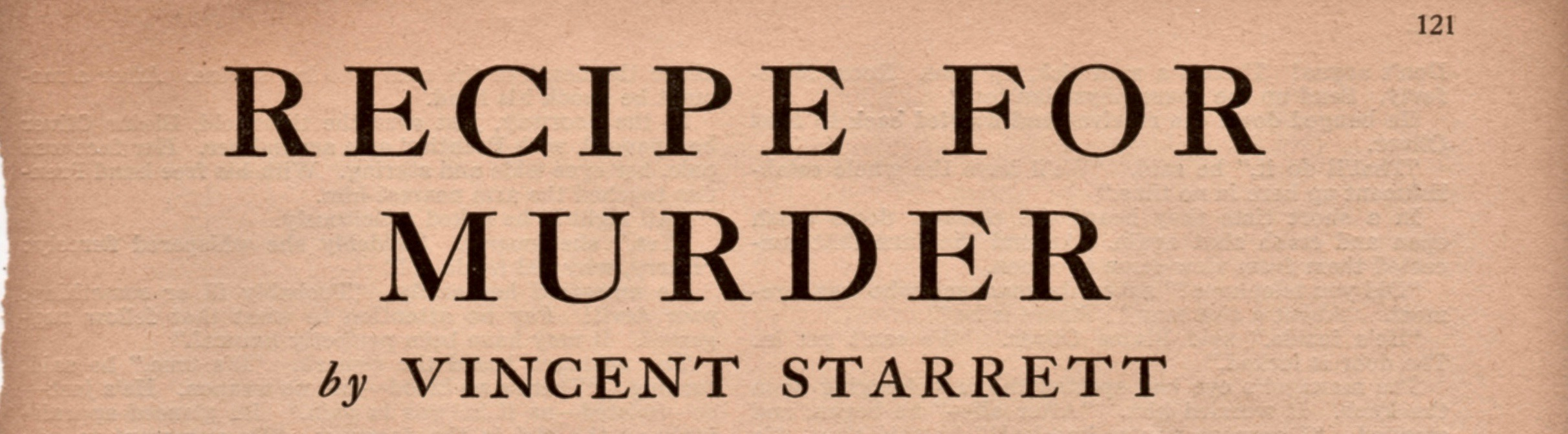 The title page for Starrett's story, which takes up 31 full pages of Redbook magazine.