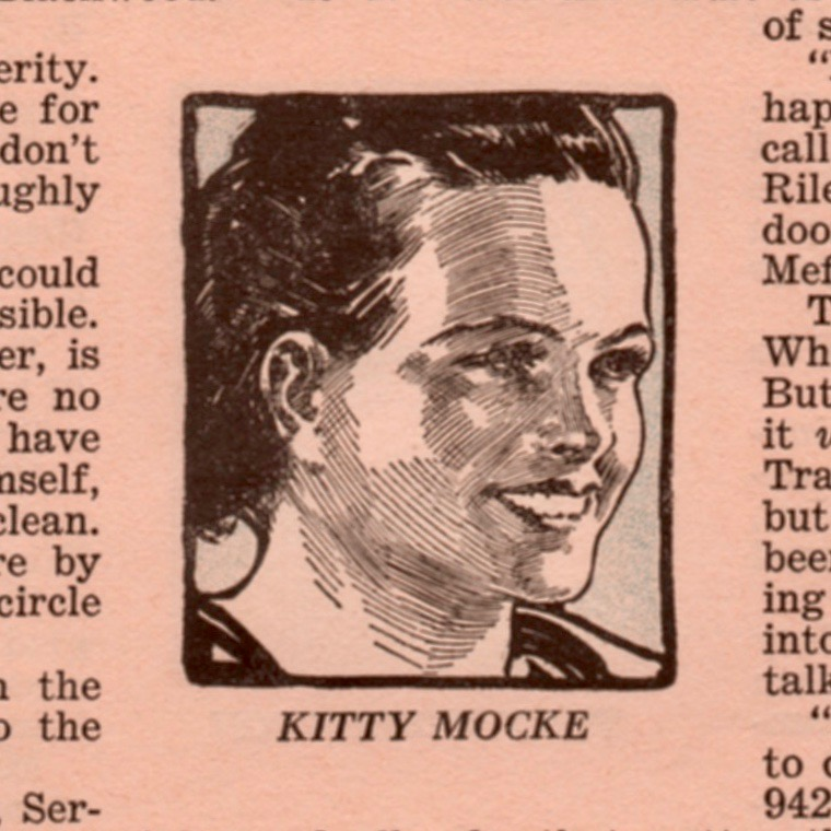Kitty Mocke became Kitty Mock when moving from Redbook, where this illustration appeared, to the novel.