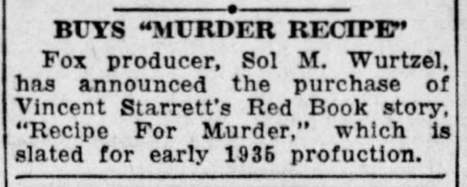 "From  The Press and Sun-Bulletin  of Binghamton, NY for Nov. 26, 1934. Those readers who decry today's sloppy news proofreading are directed to the last word in this clip, which is NOT ""production."""
