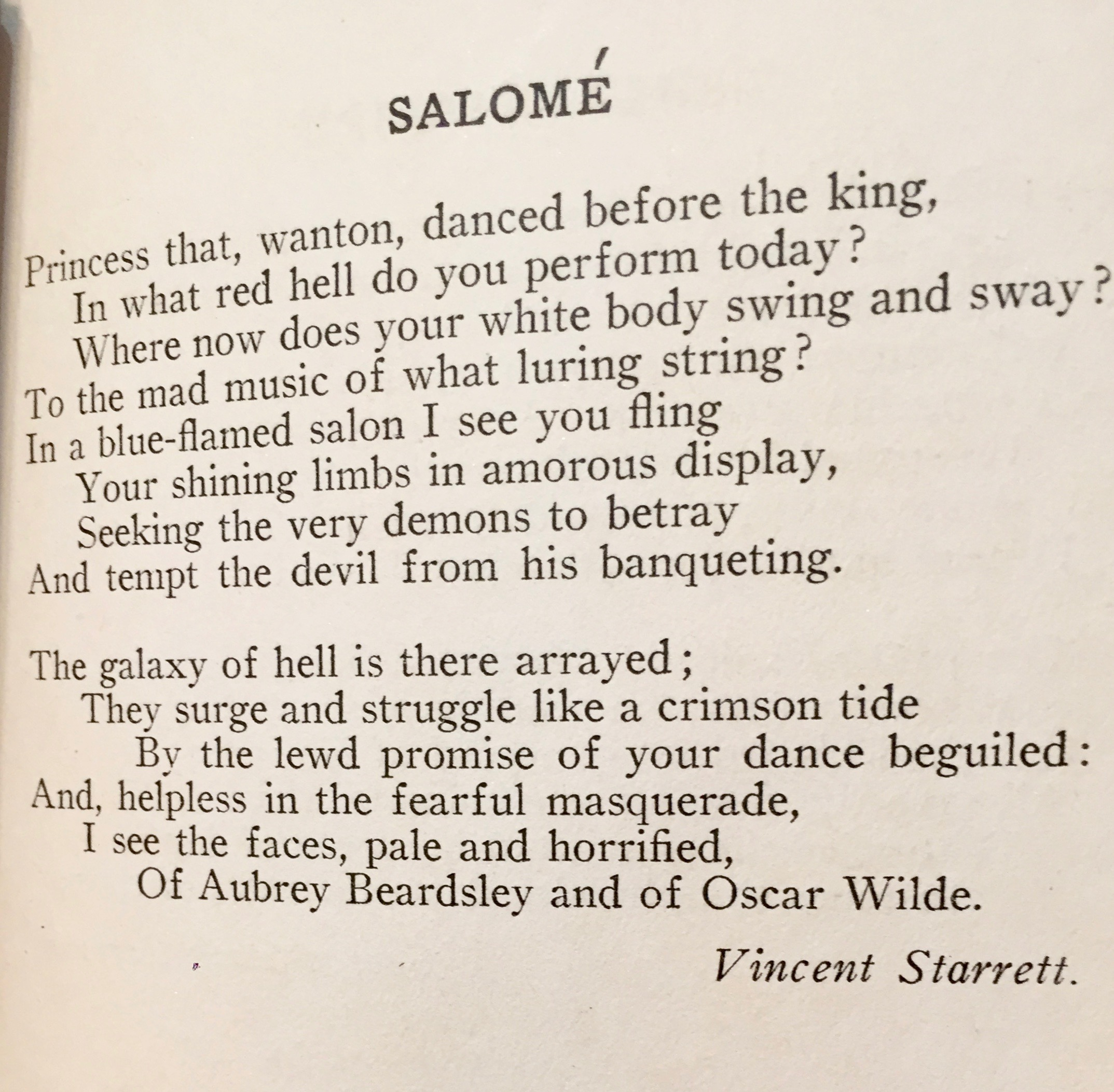 """The first published version of """"Salomé"""" that i can find, this is from the 1918 pamphlet  Estrays."""