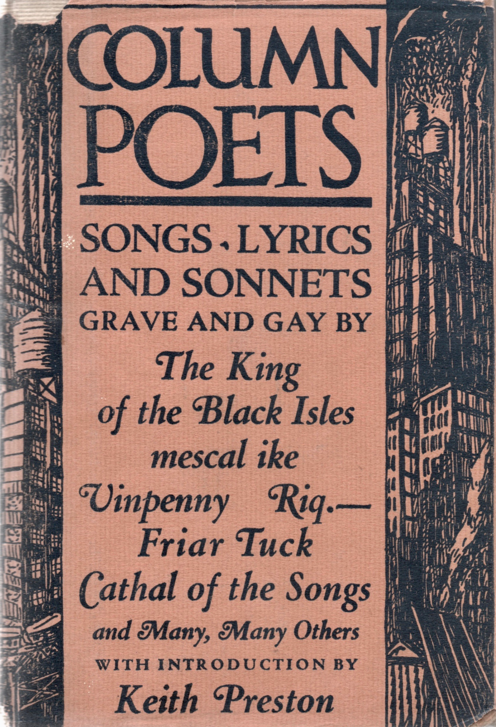 Starrett, or at least his poetic alias, made it on the dust jacket cover of the verse anthology,  Column Poets , published in 1924.