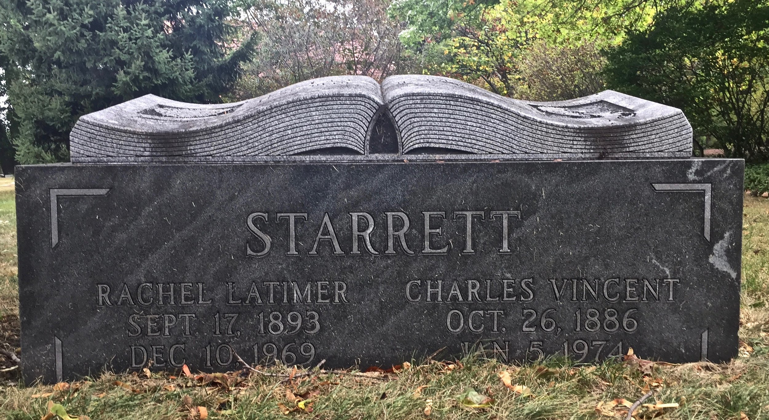 Starrett gravestone at Graceland Cemetery in Chicago.