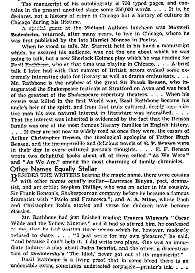 Part 3 of 3: Enter Basil Rathbone.