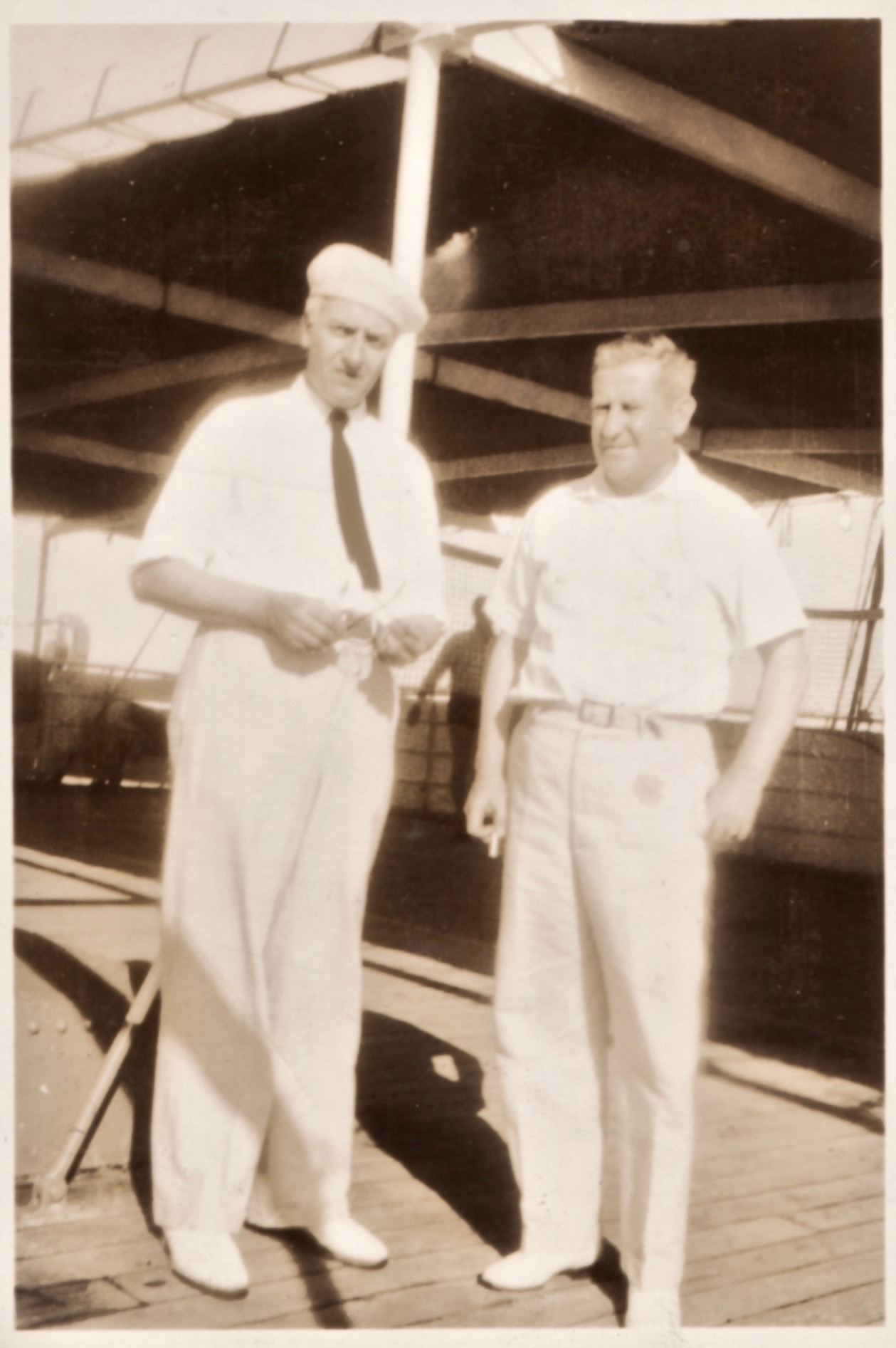 In a photo from a family album, Starrett is shown with  Admiral William H. Allen  aboard the Dollar Line ship the SS President Wilson, probably on their way from California to a port in Asia. Thanks to Studies in Starrett friend Ira Matetsky for sorting out the details.