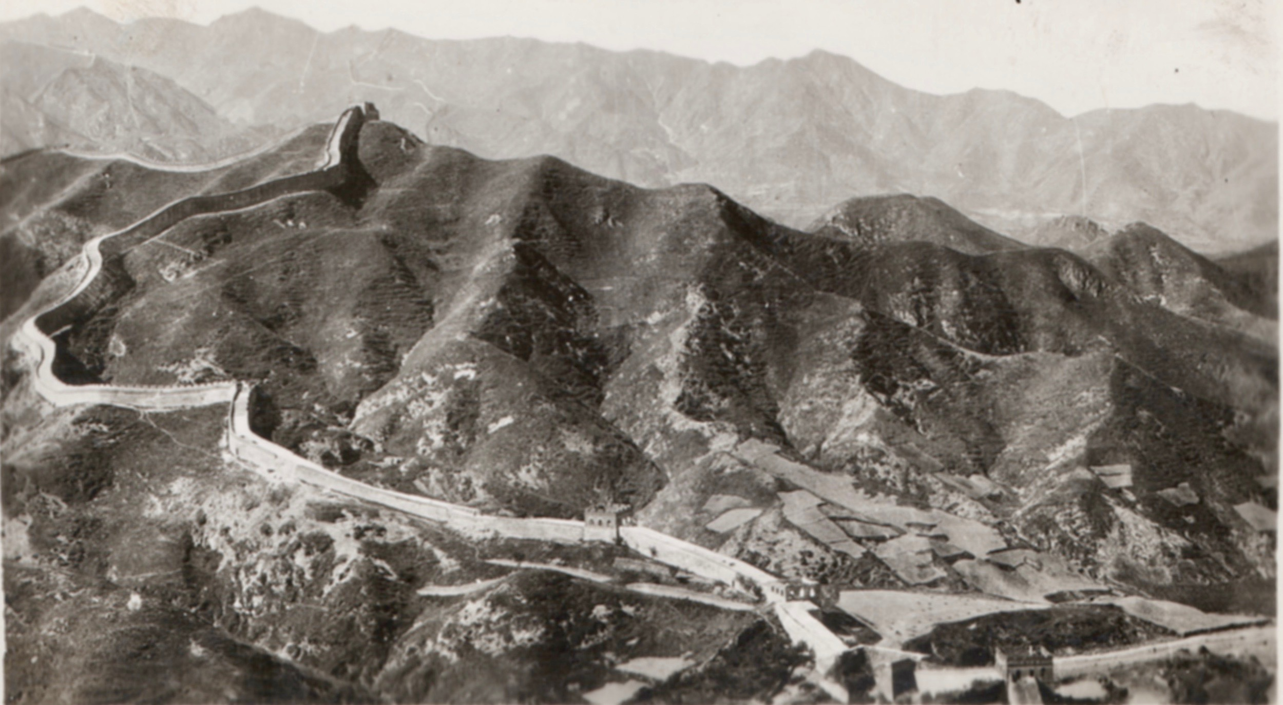 The Great Wall of China snapshot from a Vincent Starrett family album. The original is tiny, just 2.5X4 inches.
