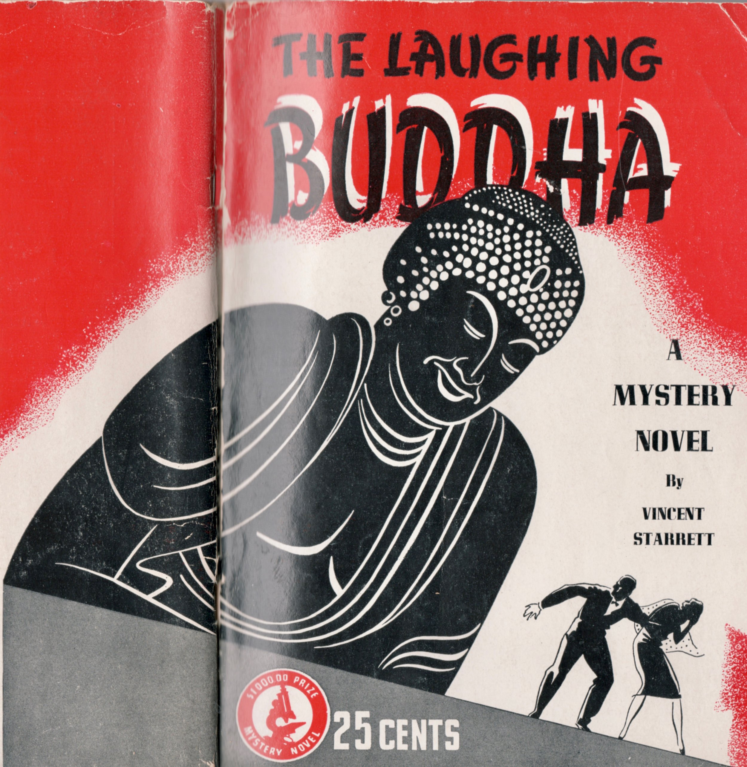 The cover to  The Laughing Buddha,  one of several products of Starrett's time in Asia in the 1930s.