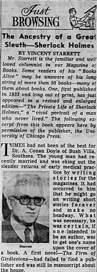 The Chicago Tribune published an excerpted chapter in the Sunday, May 15, 1960 edition on page 24.