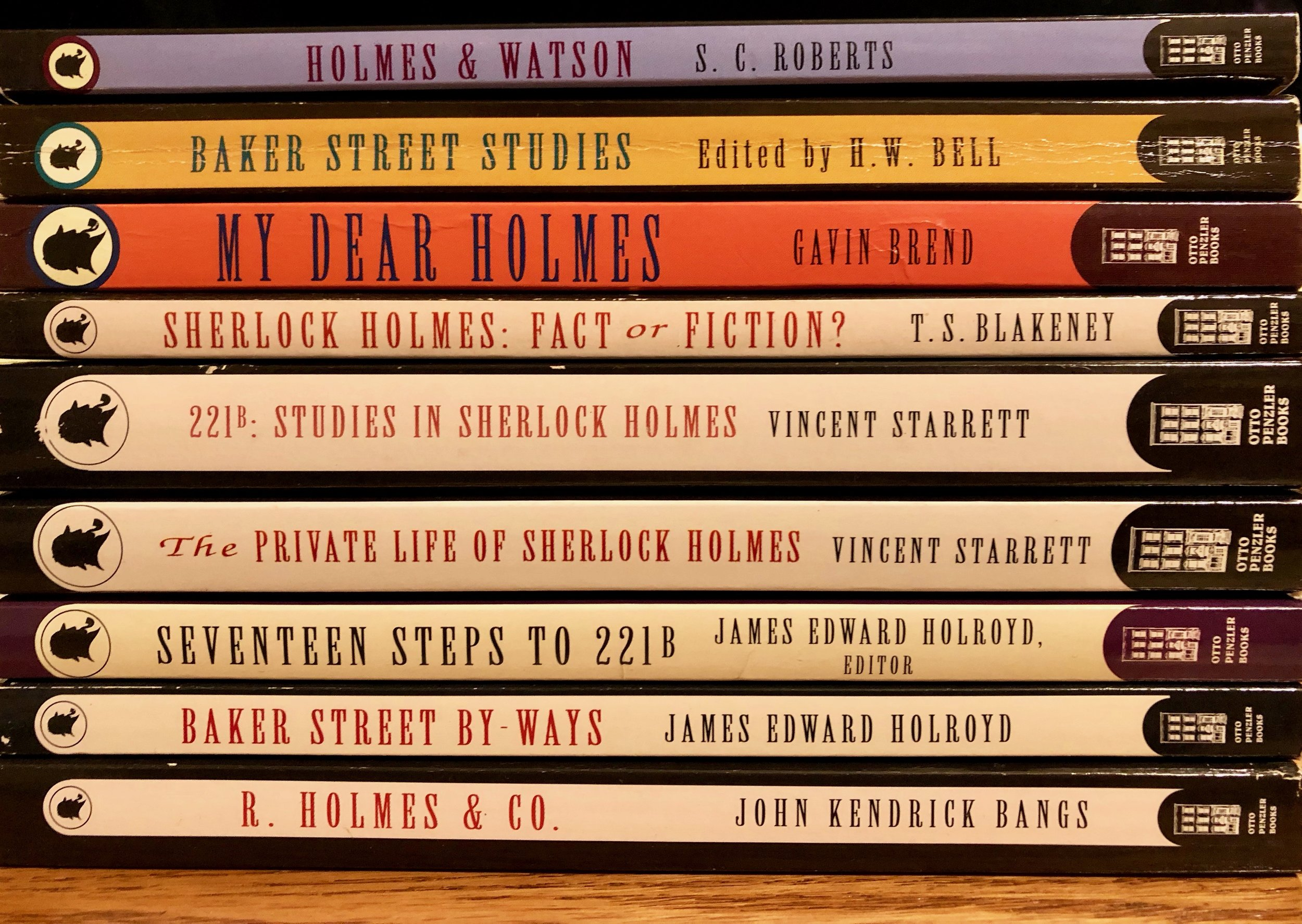 All nine books in the Otto Penzler's Sherlock Holmes Library series.
