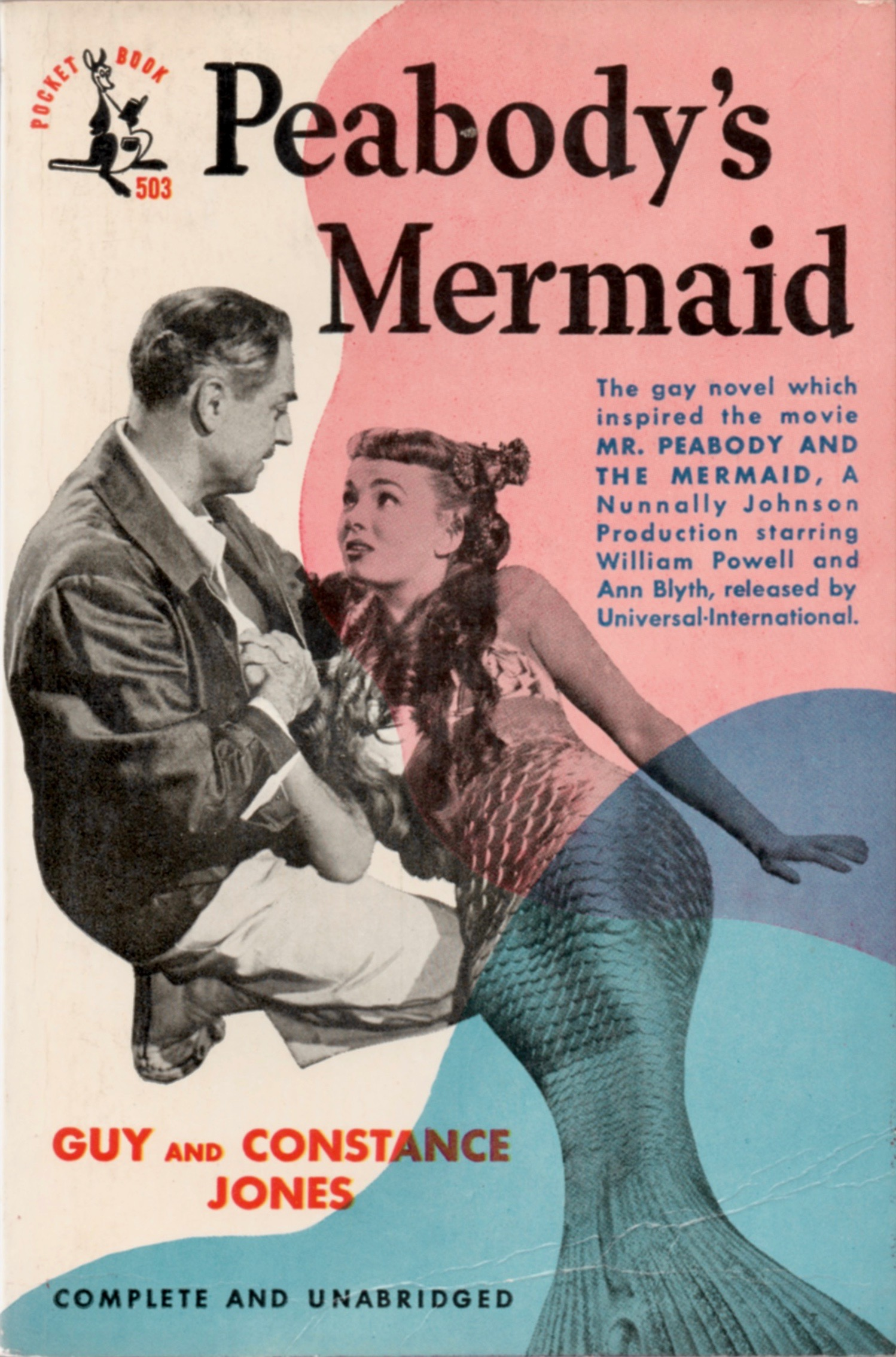 "The paperback movie tie-in edition of ""Peabody's Mermaid."""