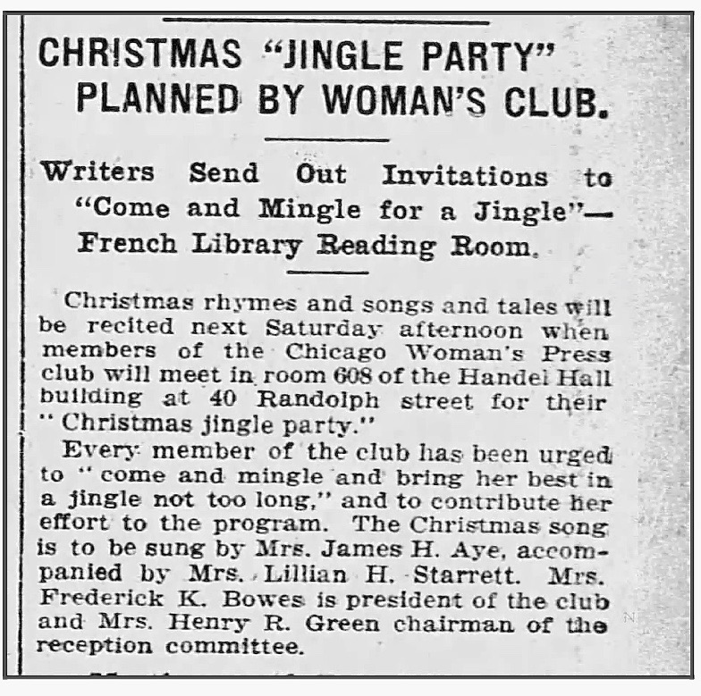 Here's the brief story from the Nov. 27, 1909 issue of the  Tribune .