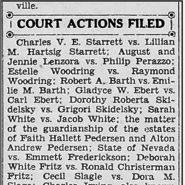 The Reno Gazette-Journal  for Feb. 14, 1940.