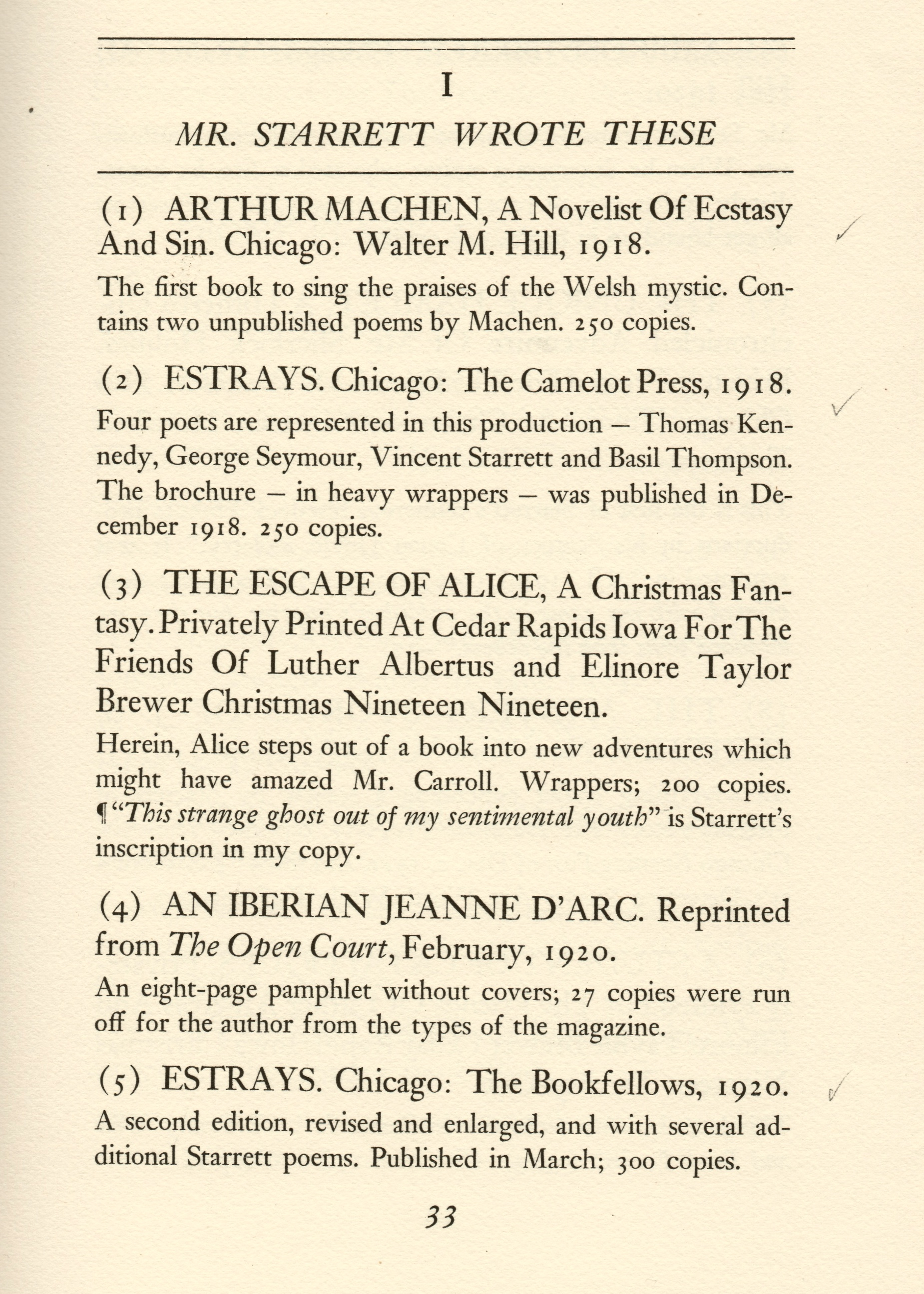 The first page of the bibliography proper.