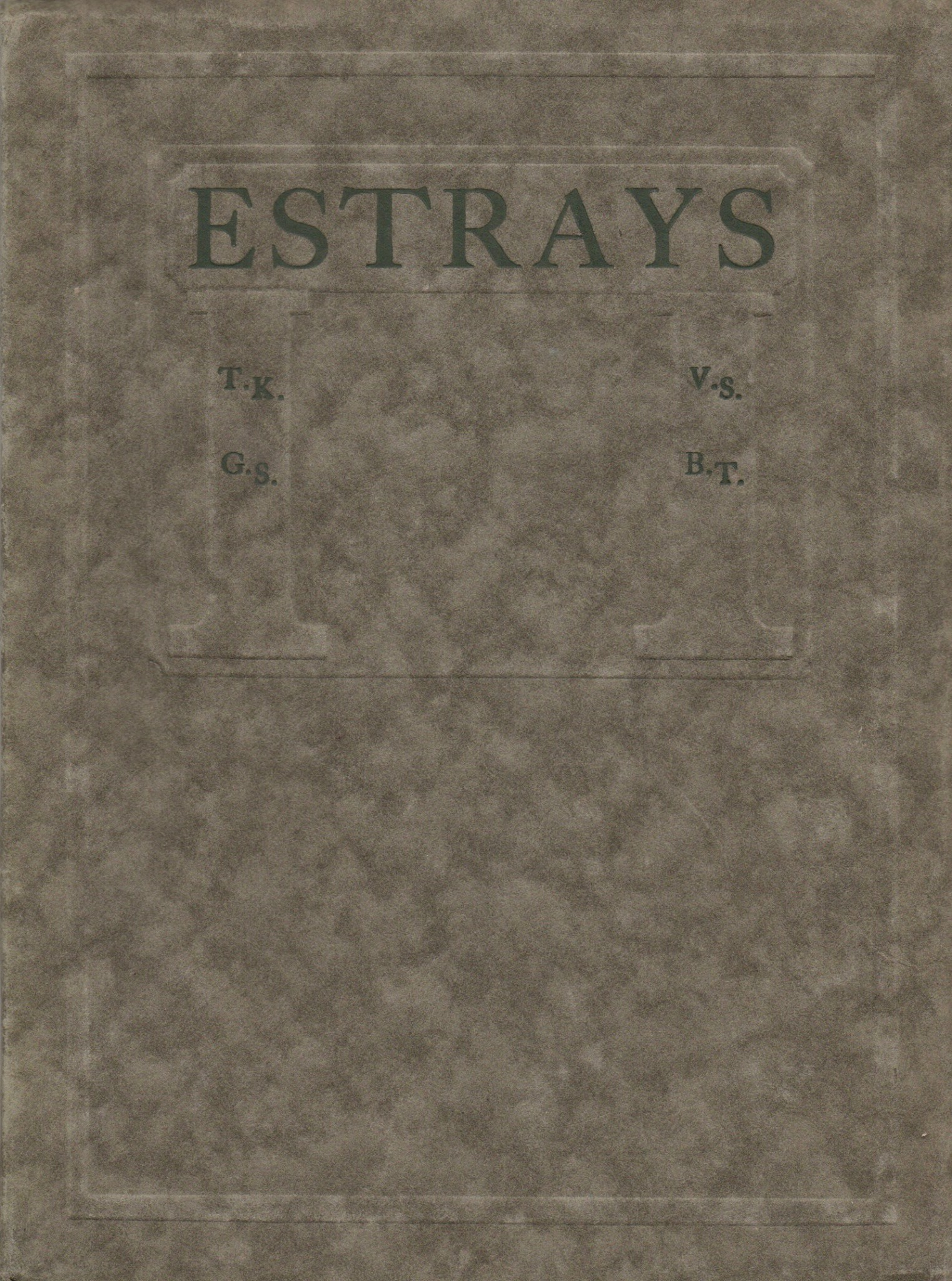 Starrett was one of four poets to contribute their work to  Estrays . This is the 1918 edition.