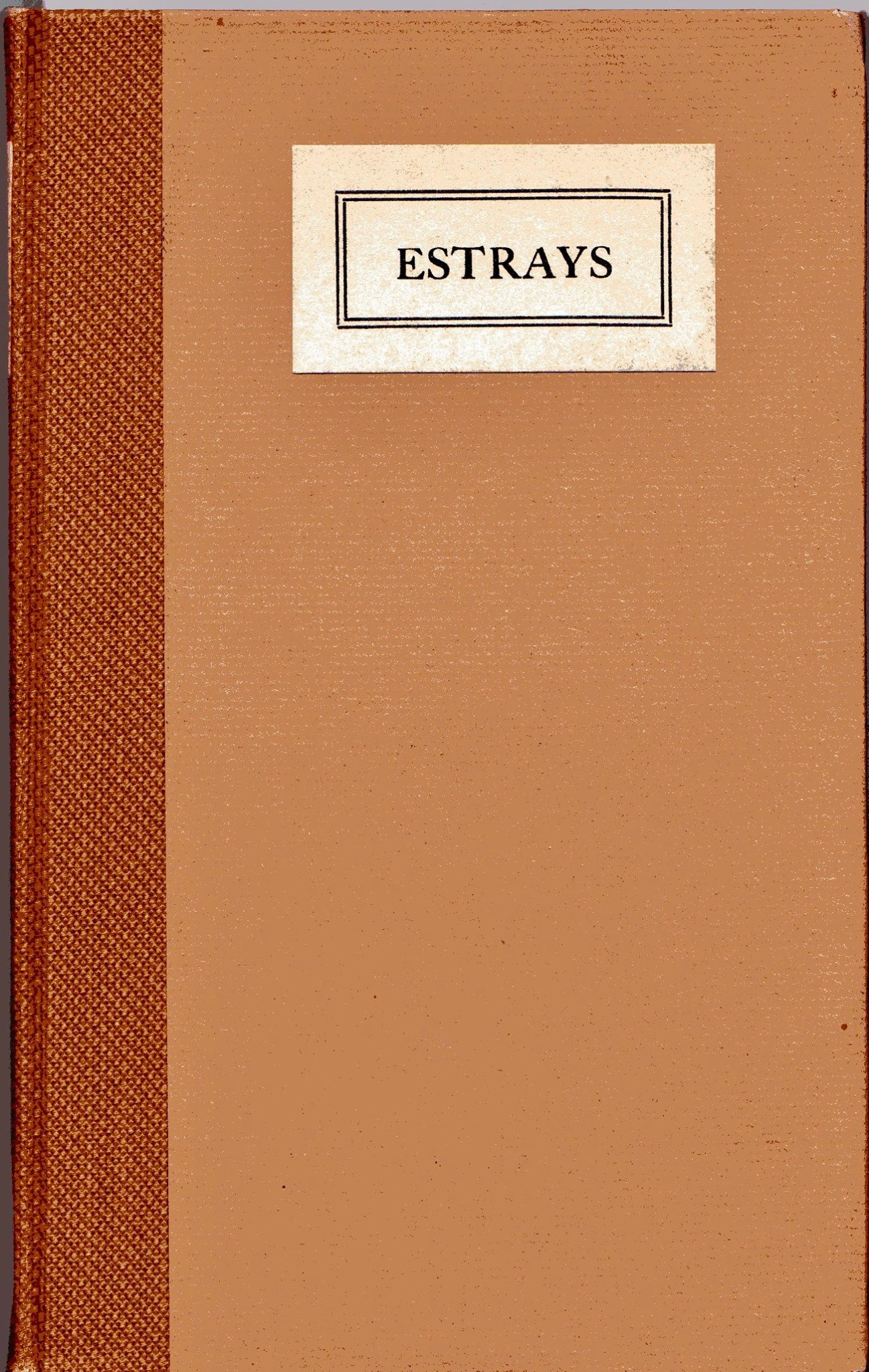 The second edition of  Estrays  featured the same four poets, but more contributions from each.