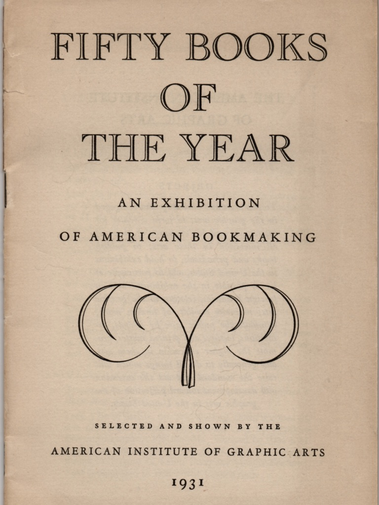 Cover of the American Institute of Graphic Arts (AIGA) catalogue of the  Fifty Books of the Year .