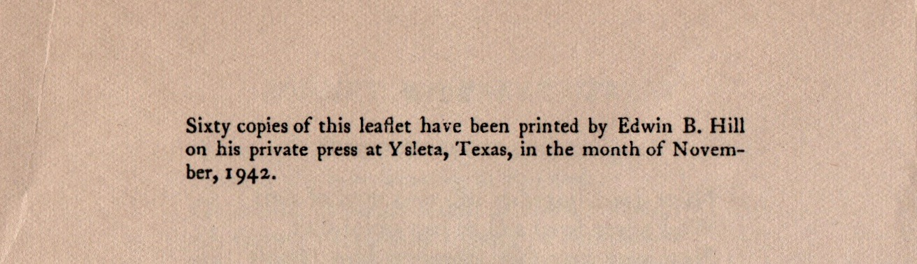 The pamphlet was timed to be mailed out for the holiday season of 1942.