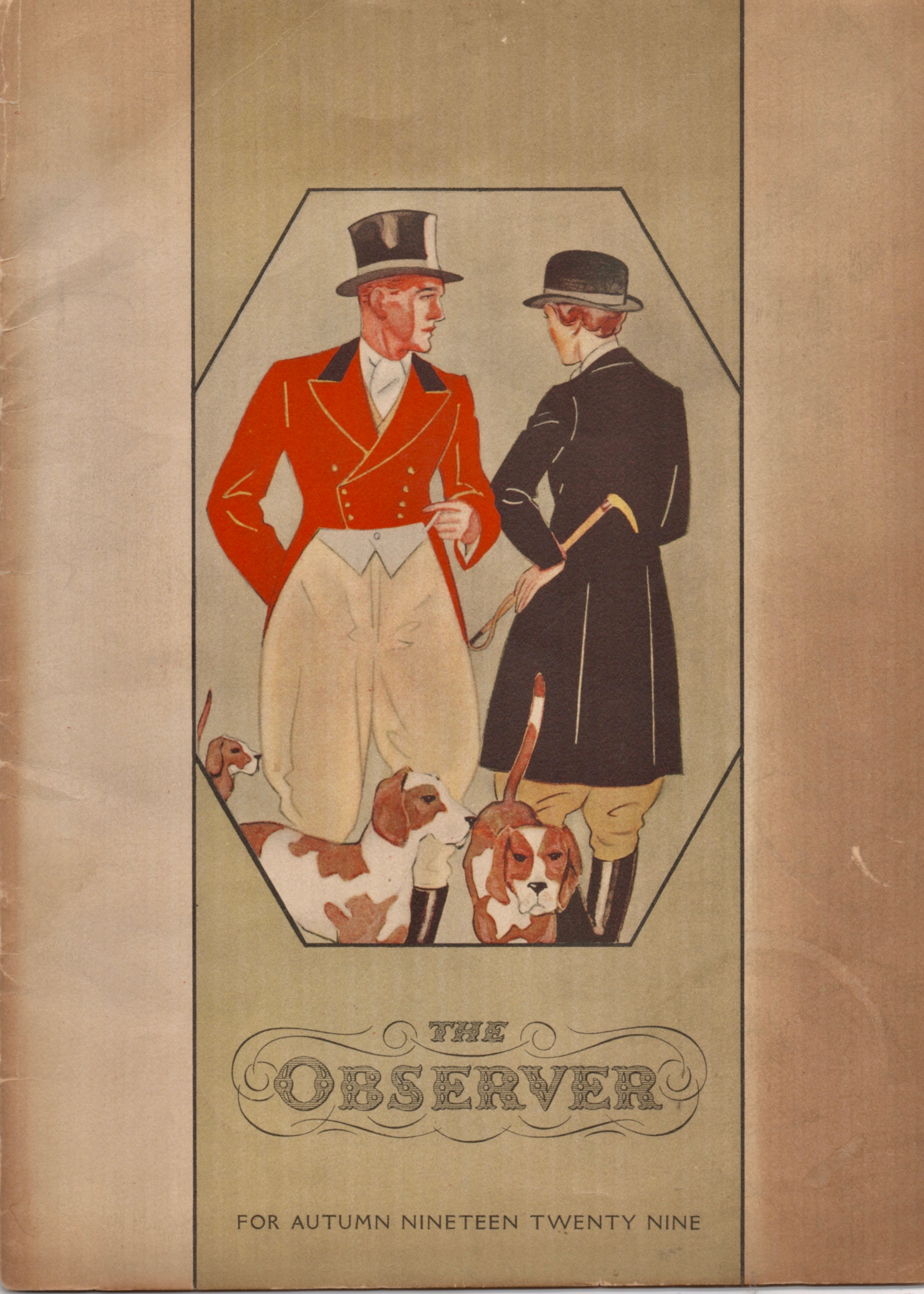 The cover to The Observer for Autumn, 1929. I found this on eBay more than 15 years ago, and have never seen a second one since. If you own a copy, let me know. So far, I've not found anyone who has one.