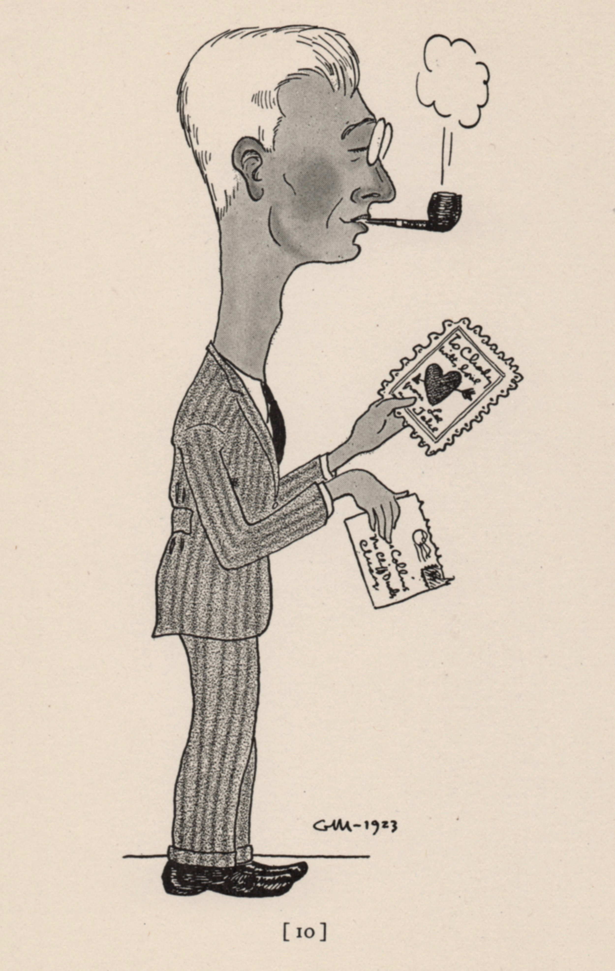 Cartoonist Gene Markey did this caricature of Charles Collins in 1923. He also  did a few of Starrett.  Image from  Men About Town: A Book of 58 Caricatures  by Gene Markey, published in 1934 by Covici-McGee Co.