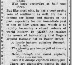 A clip of Richard Hart's review from The Evening Sun of Baltimore on July 17, 1943.