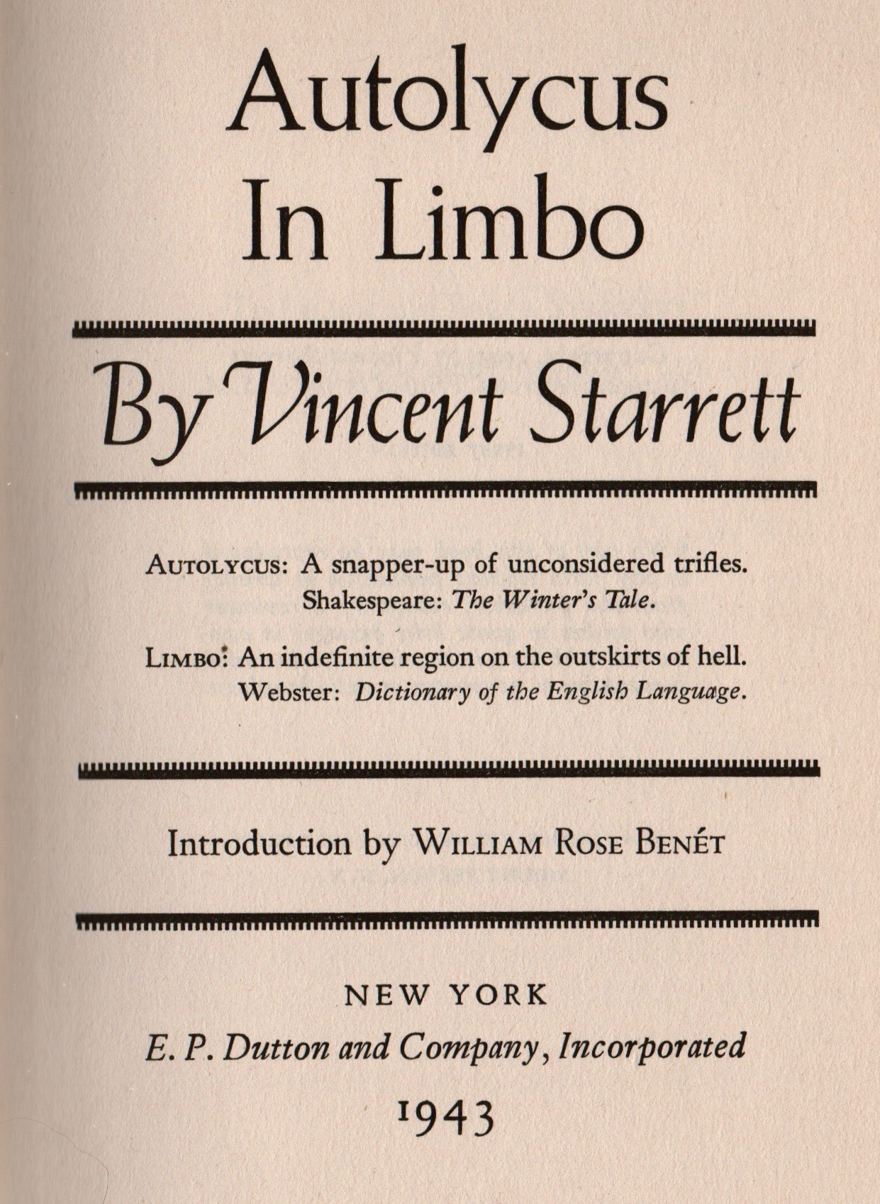 The printed title page.