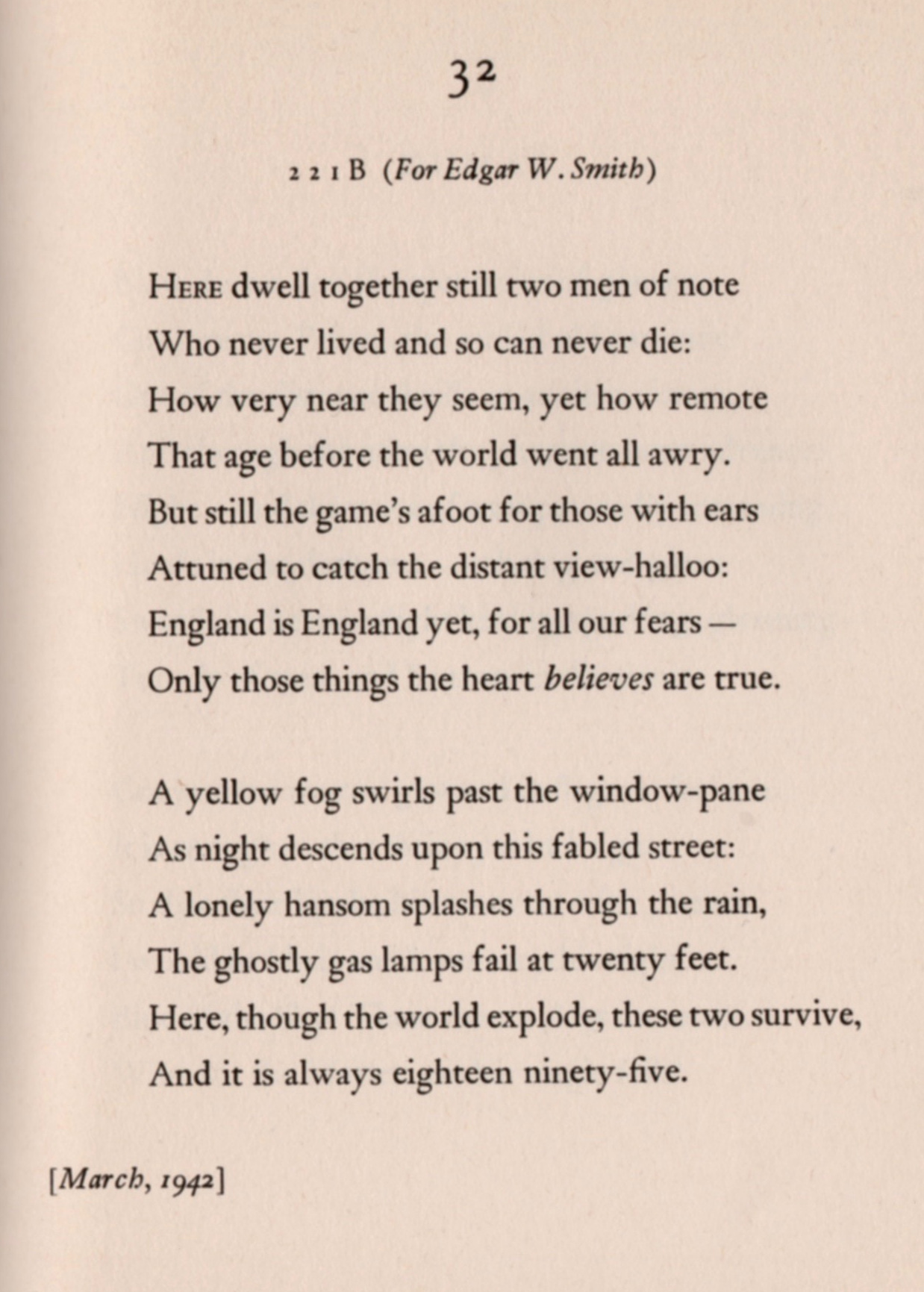 From  Autolycus in Limbo,  Starrett's slim book of poetry. The manuscript page for this volume is below.