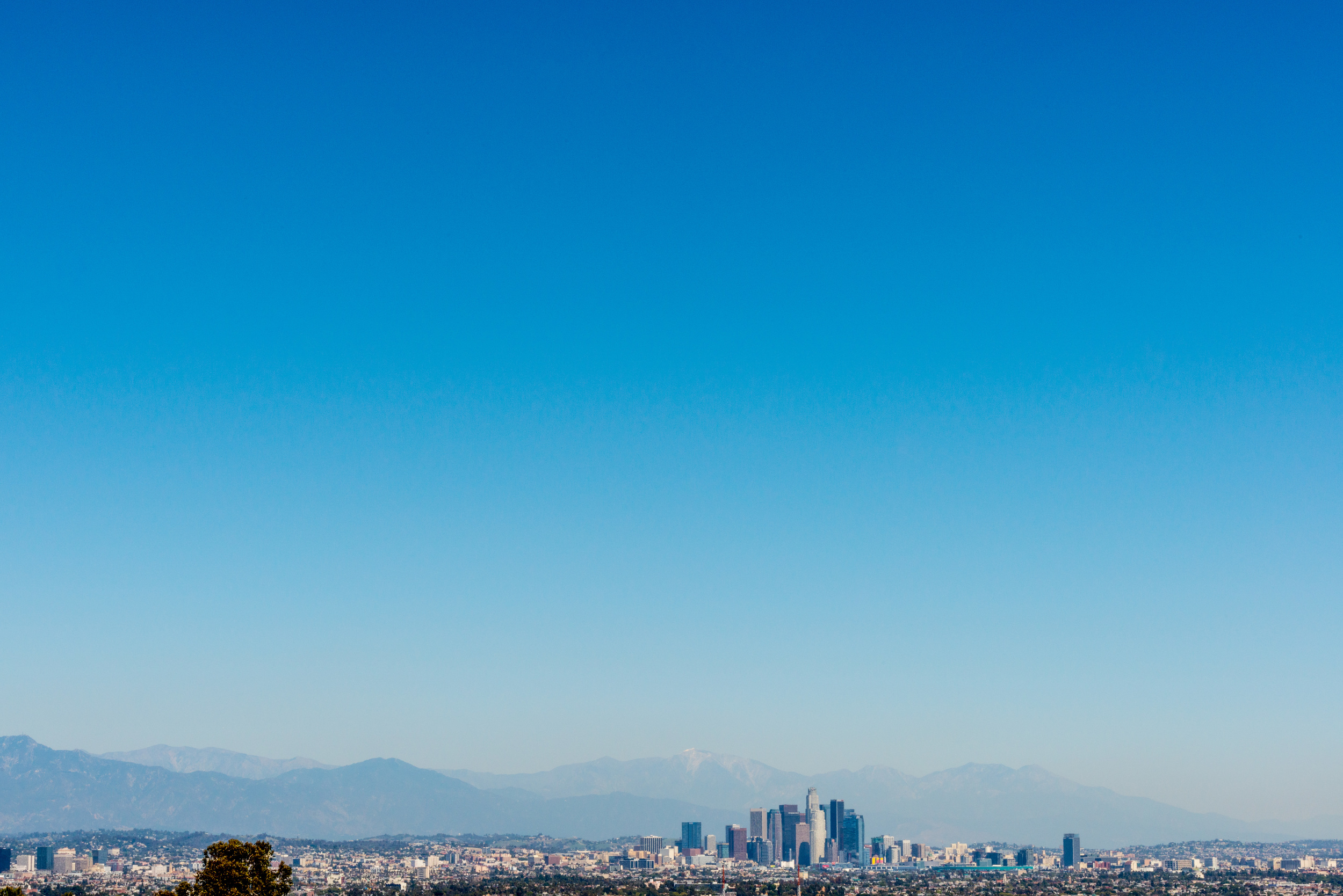 Downtown LA Shot from Kenneth Khan State Park