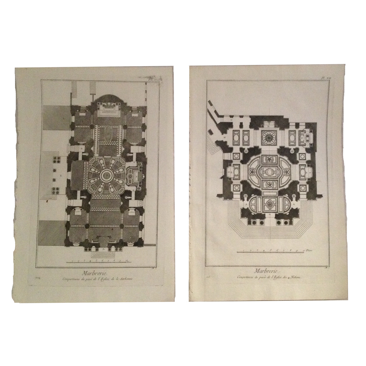 Antique French Architectural Engravings