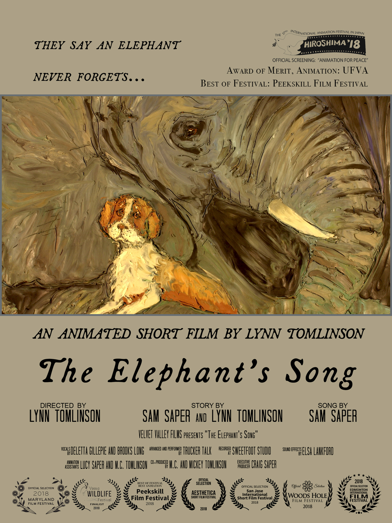 Elephant's Song Poster Dog and Elephant.jpg