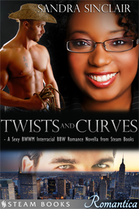 Twists and Curves   by Sandra Sinclair   Available now!   Amazon ,  Barnes & Noble ,  Google-Play ,  Kobo ,  All-Romance ,  iTunes ,  Scribd    new!