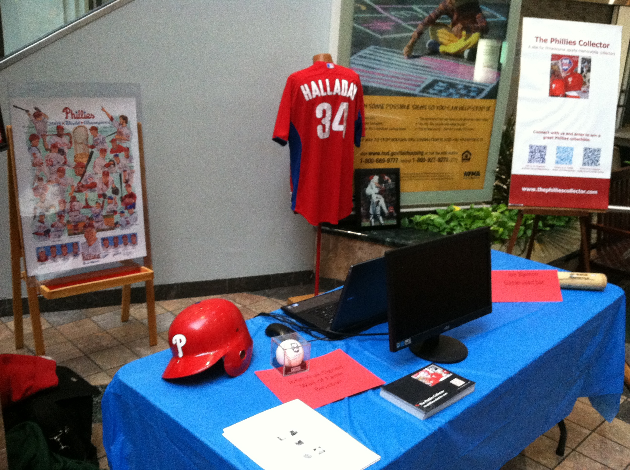 The Phillies Collector booth at the Granite Run Mall