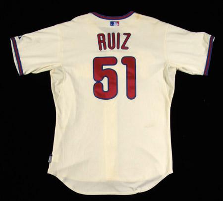 Game Used Carlos Ruiz Jersey