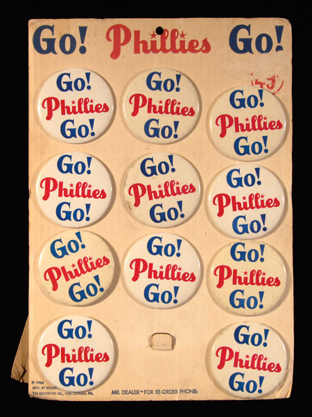 1964 Phillies Pin Store Display