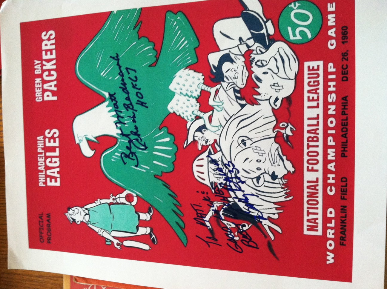 1960 Eagles - Championship Program Autograph