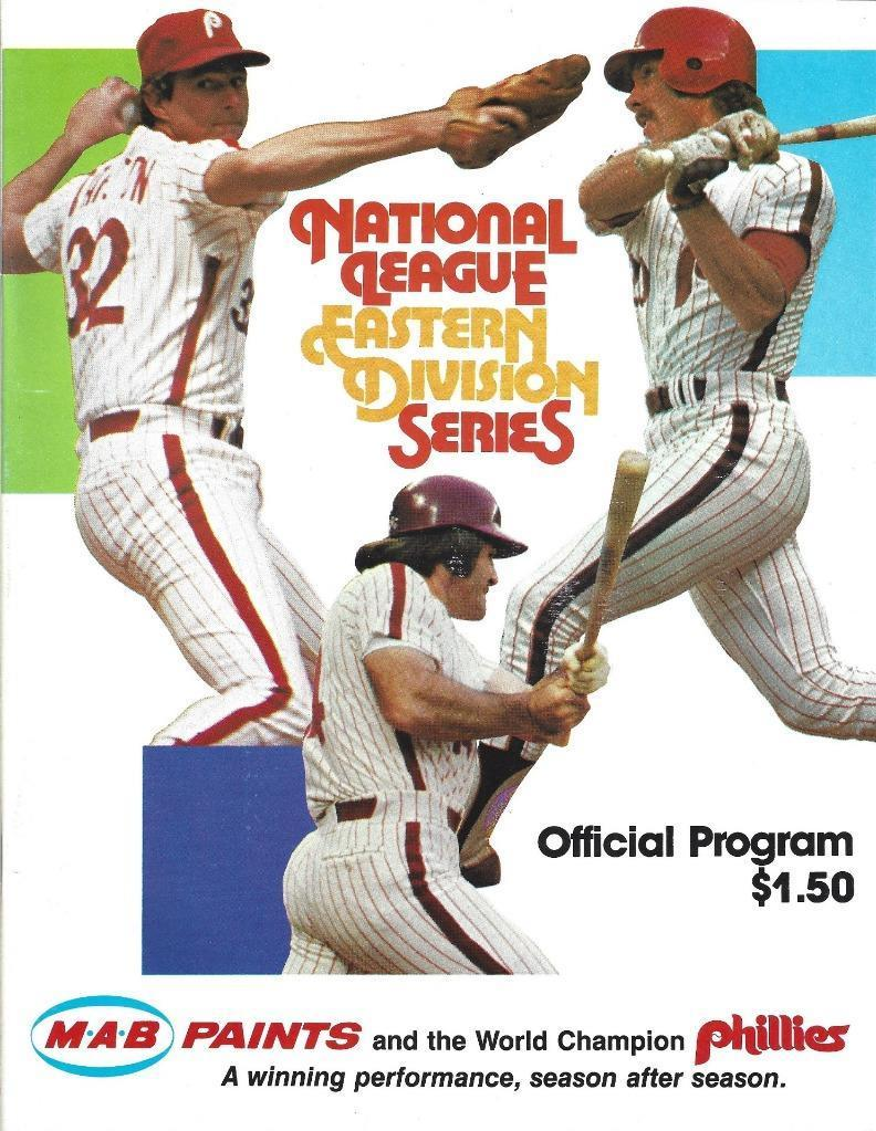1981 Phillies - NLDS Program