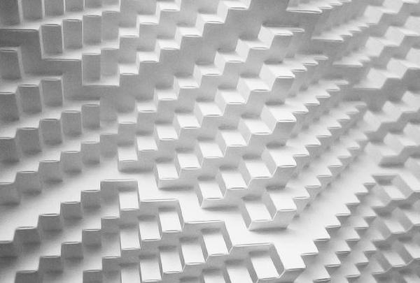 Classic kirigami paper folding