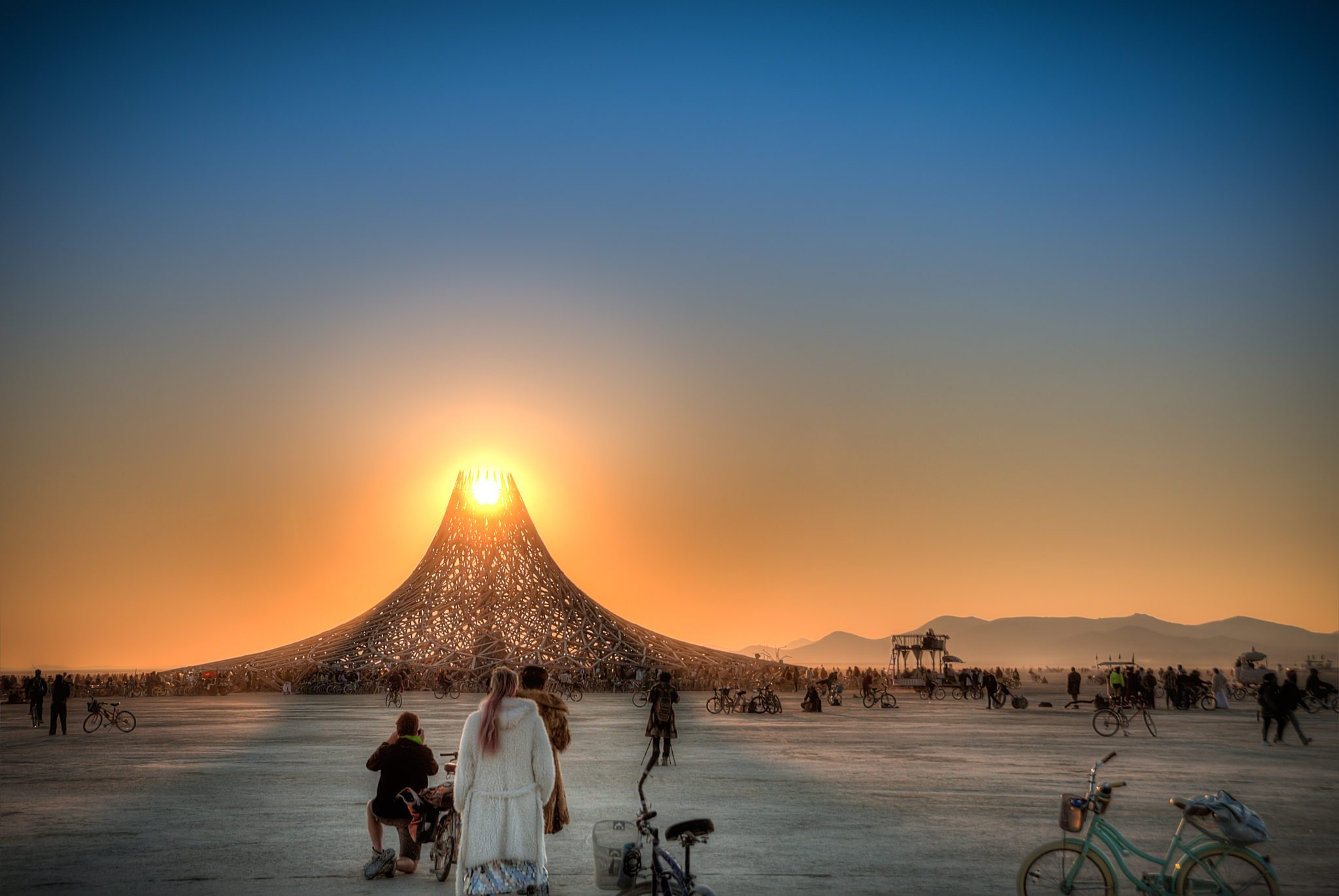 Sunset @ Temple Galaxia - Photo by Evan Eggers
