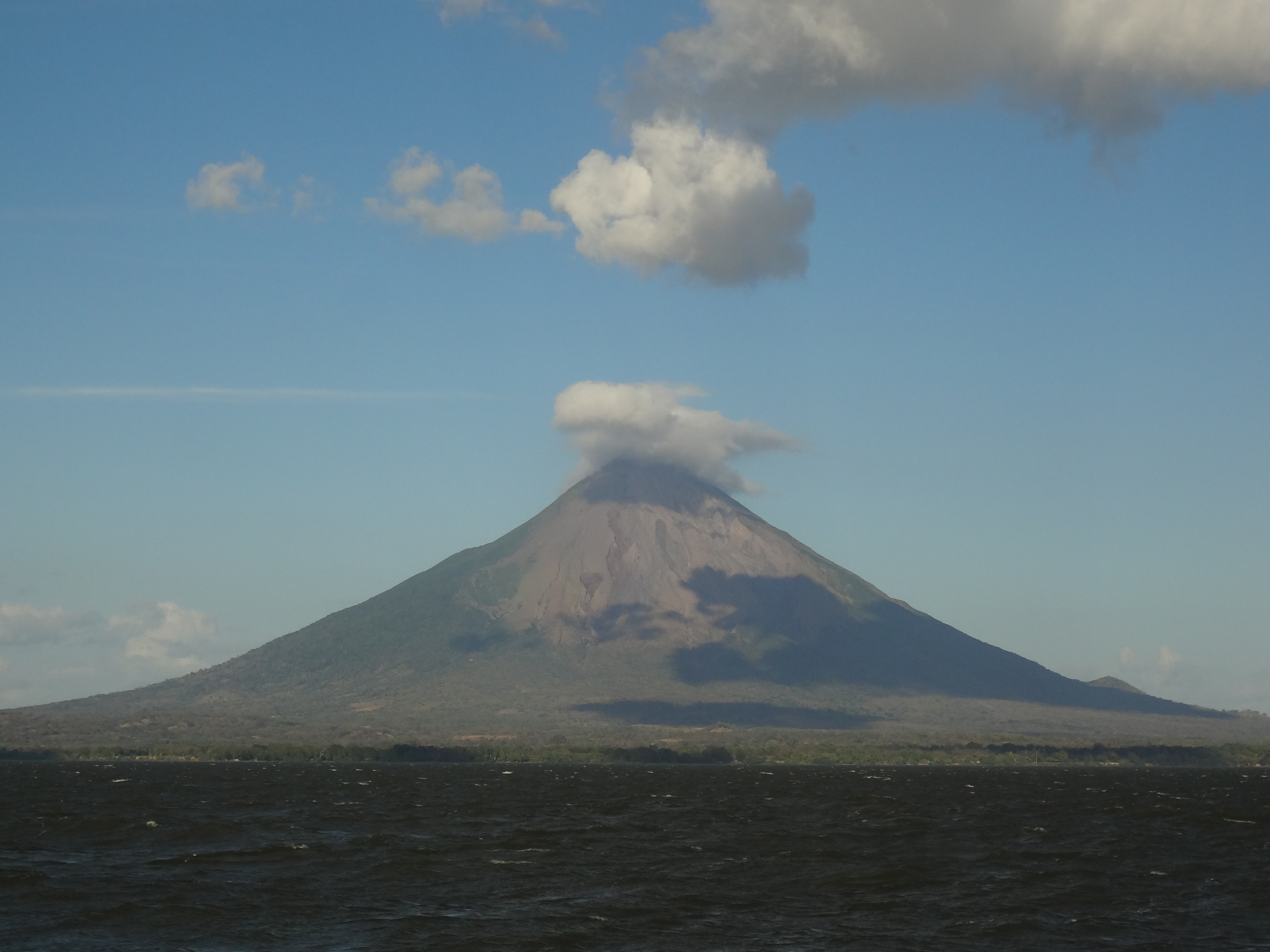 La Isla de Ometepe. Yes, that's a volcano in the middle of a massive lake.