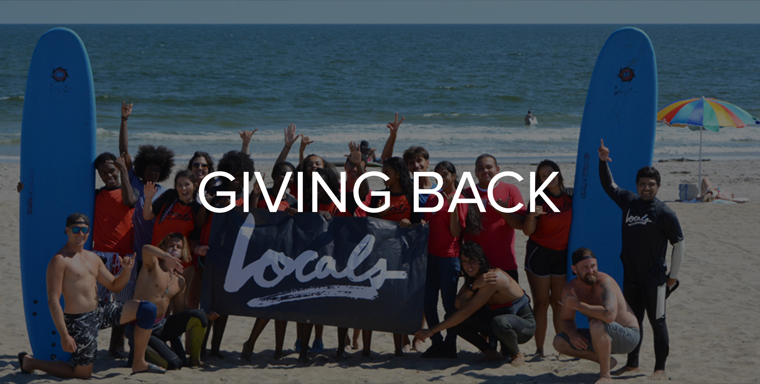 Locals is Committed to Giving Back - Learn How!