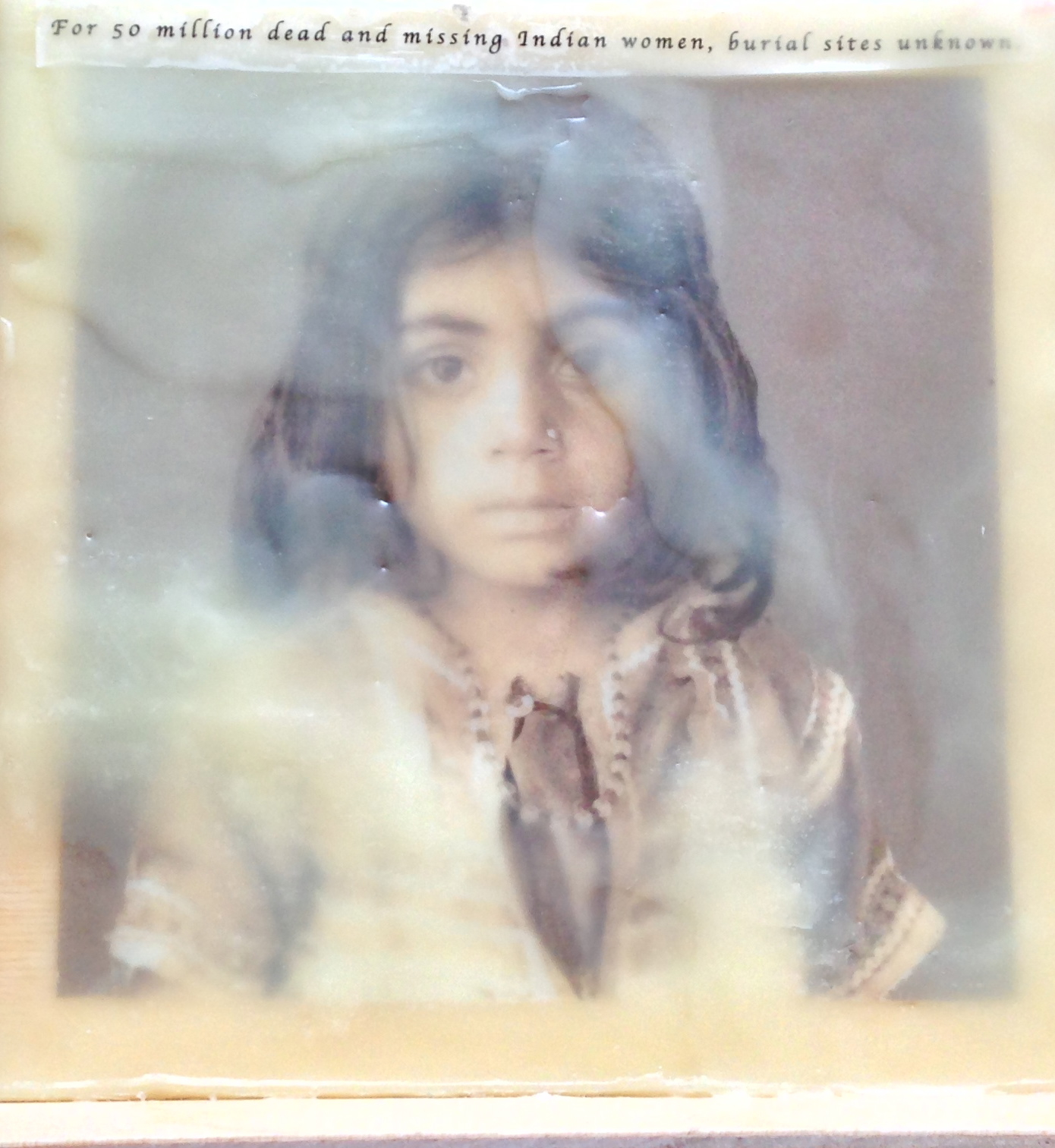 Afghani Girl Photo Encaustic