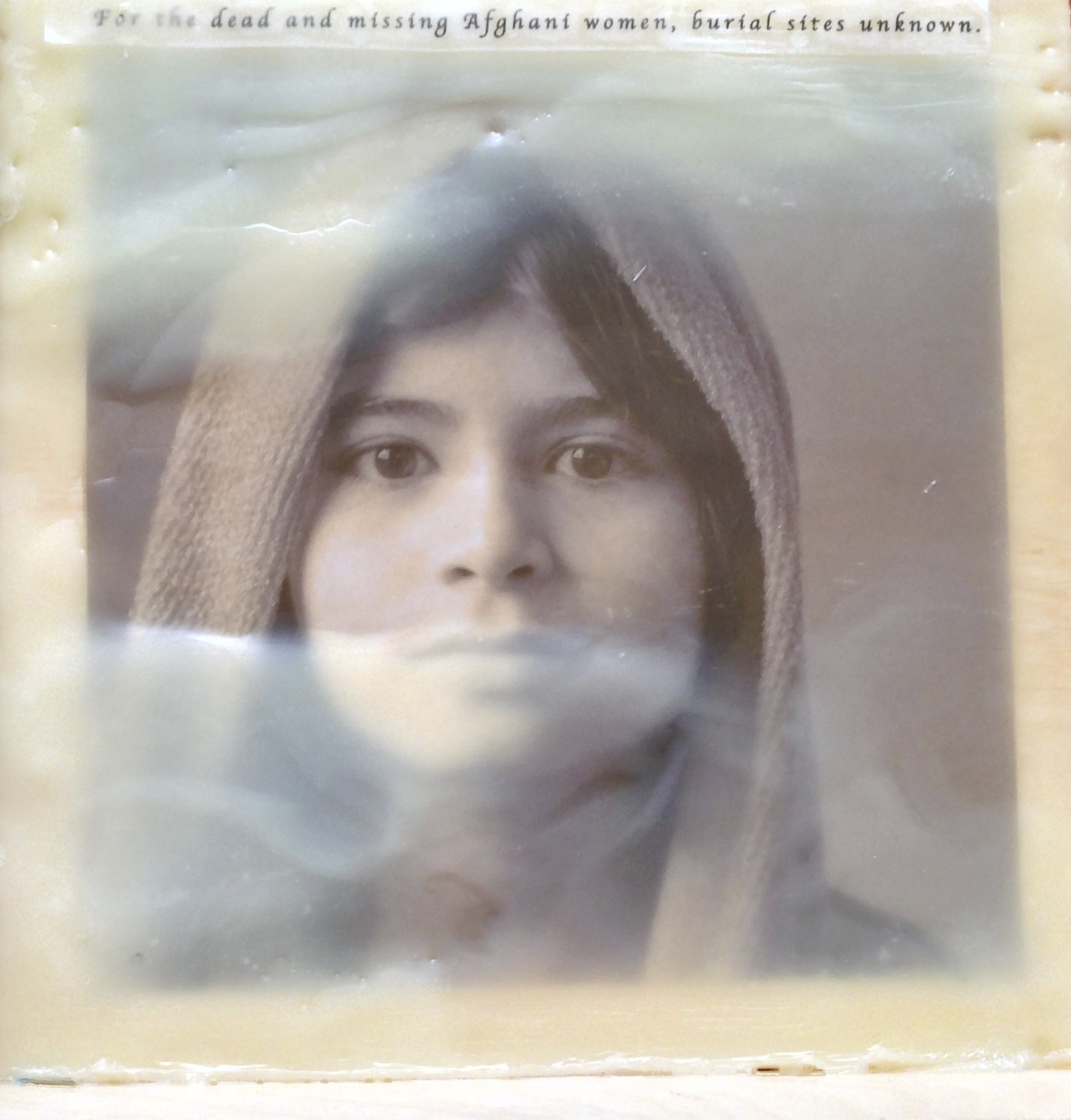 Indian Woman Photo Encaustic NFS
