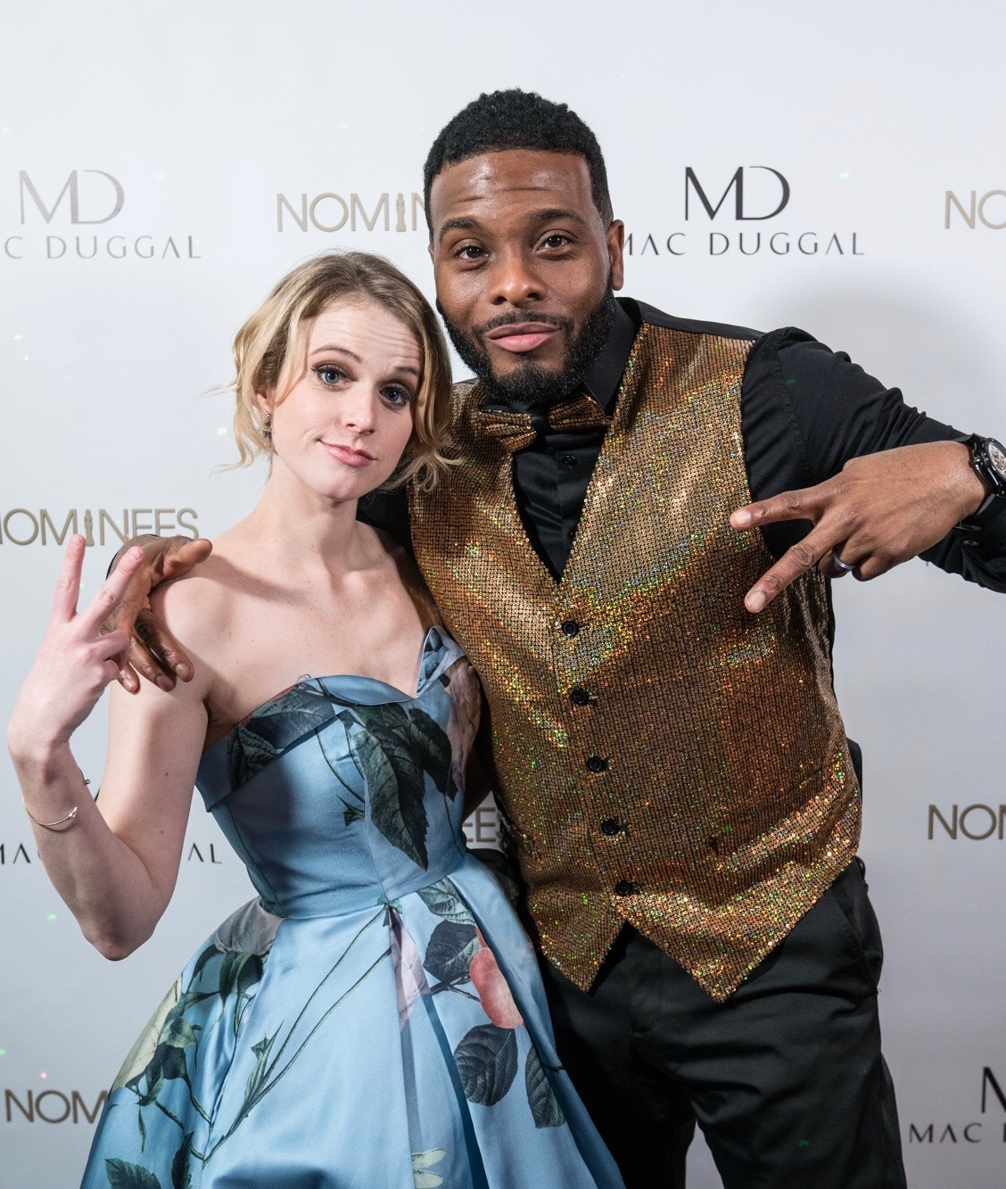 Judge Kel Mitchell and I throw up deuces post-show. Loved the vest.