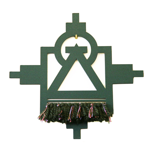 """The Present"" one of a kind wall hanging by Active Culture Family + Jetter Green"