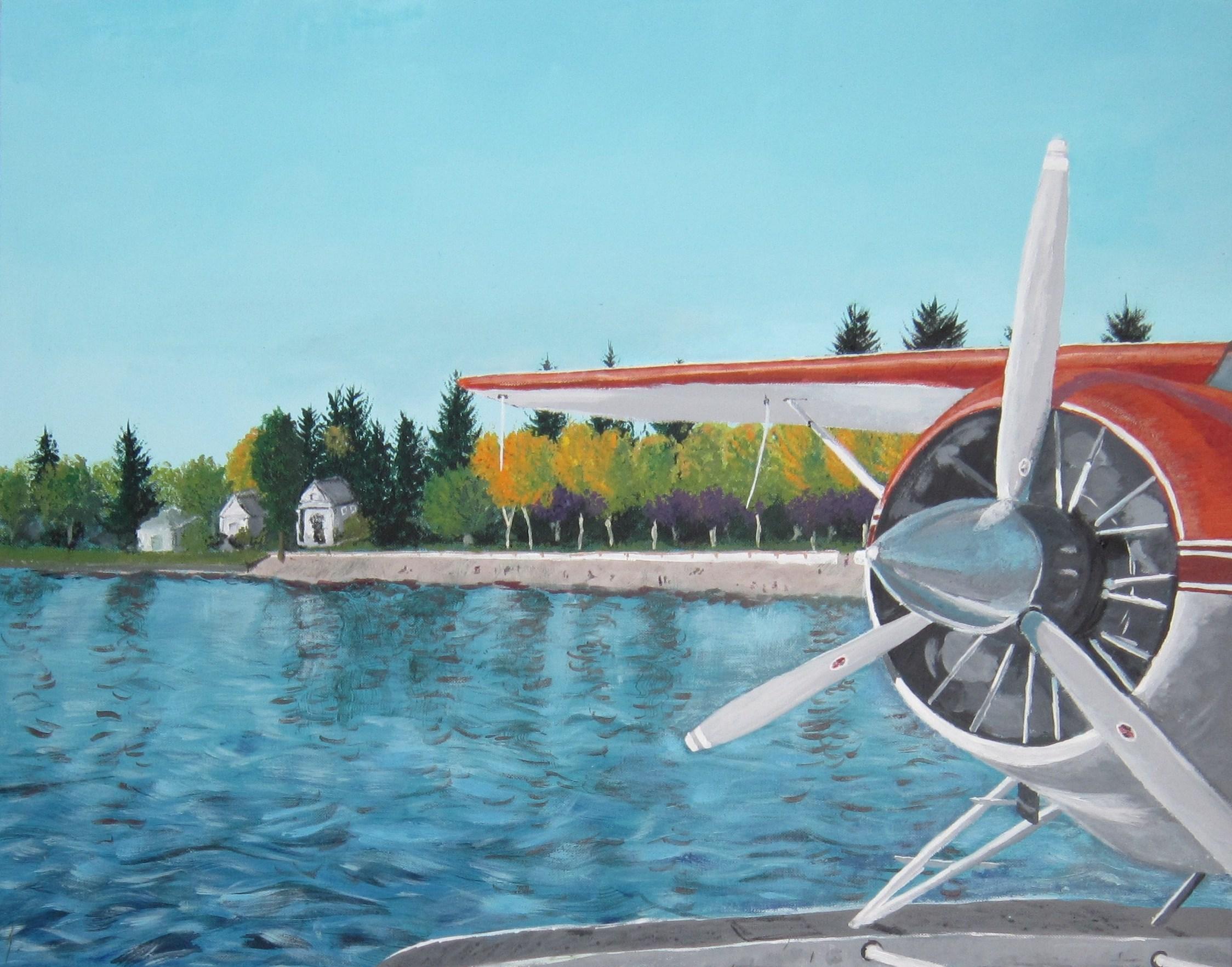 """Coeur d'Alene Float Plane - 24""""x30"""" - SOLD"""