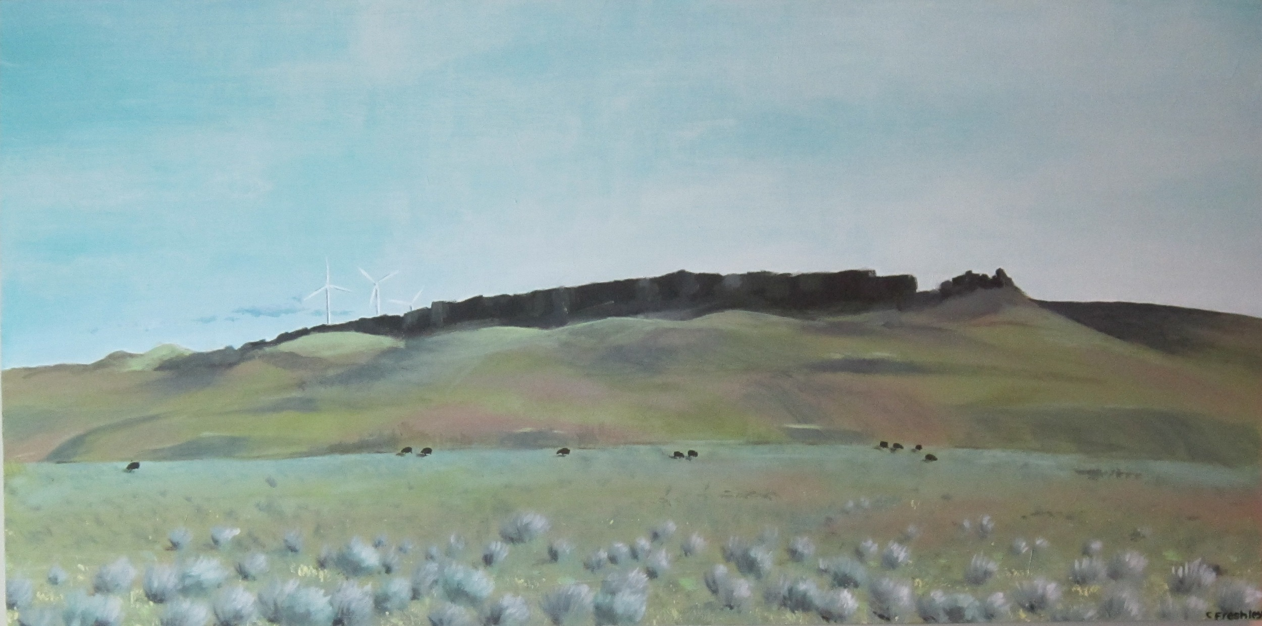"""Gorge Windmills - 24""""x48"""" - Not available"""