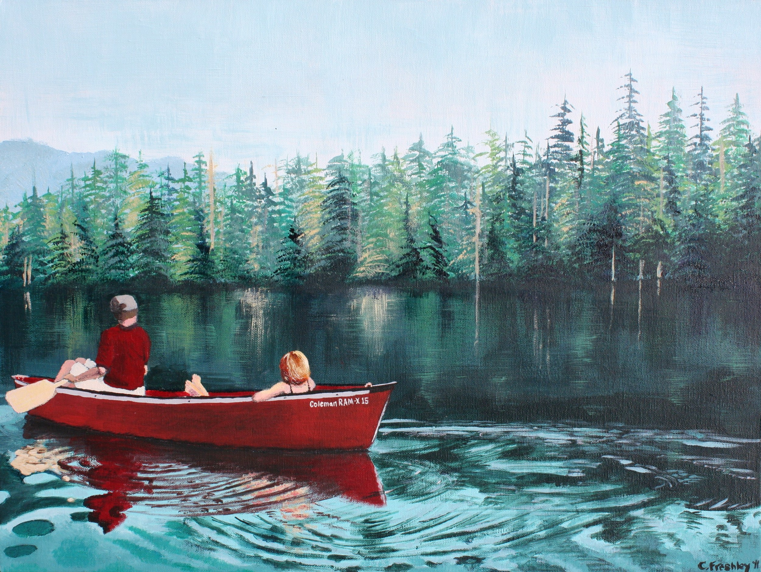"""Lost Lake - 18""""x24"""" - SOLD"""