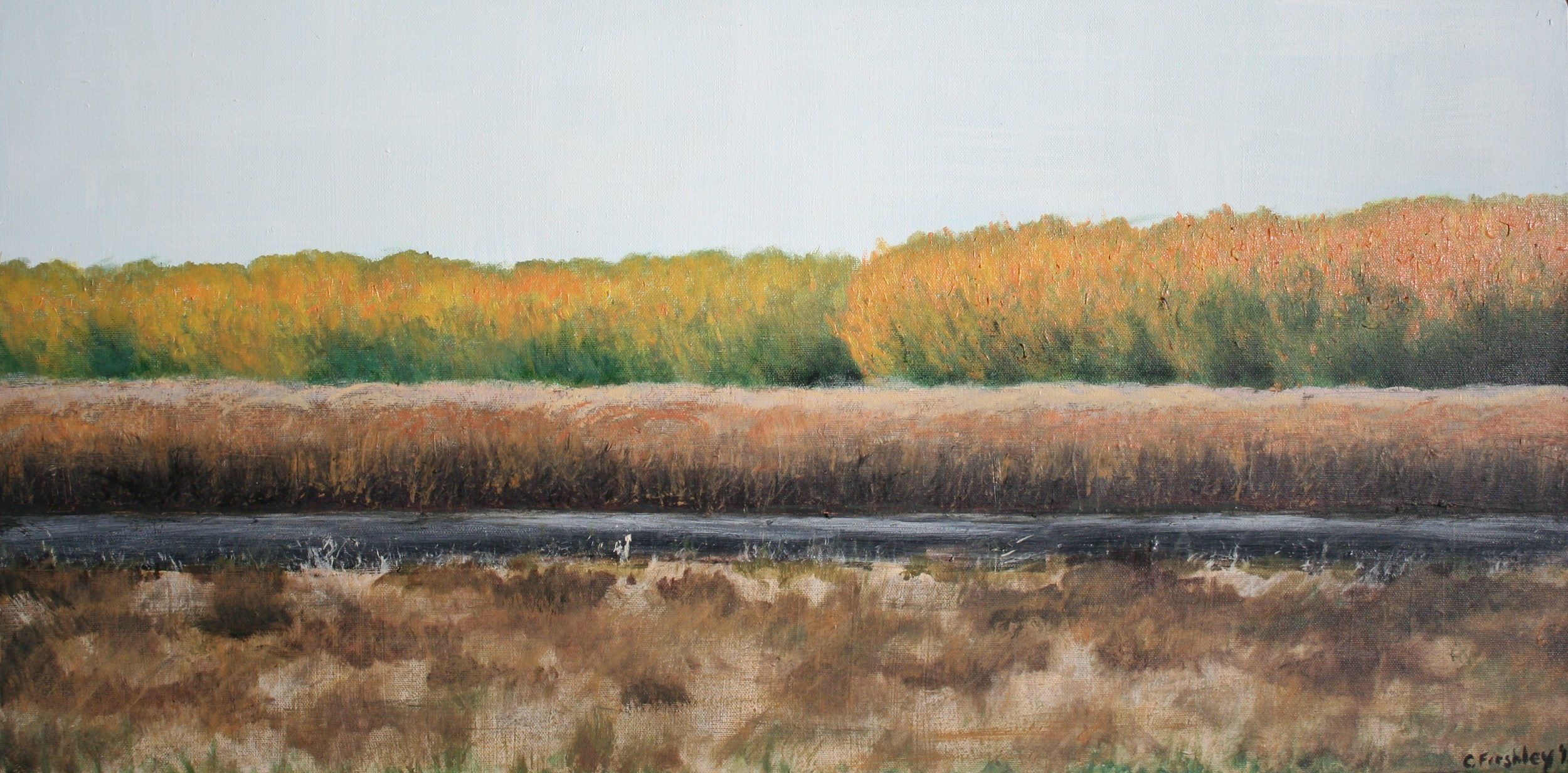 """Paper Trees - 15""""x30"""" - SOLD"""